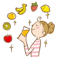 ビタミンは、生ジュースでの摂取が理想的