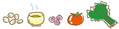 大豆・お茶・ブルーベリー・トマト・ほうれん草が有効