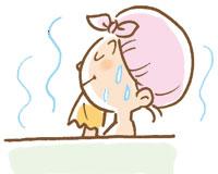湯船につかり、汗をかくことも重要です