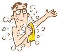 加齢臭用の石けんで体を洗って清潔に